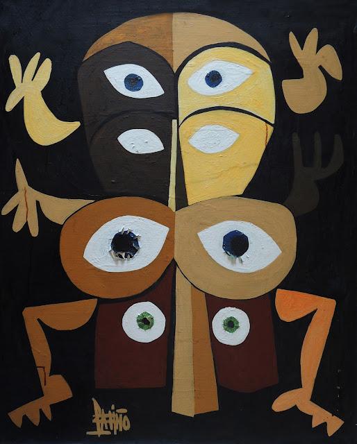 Antonio García Patiño óleo sobre lienzo karma africano