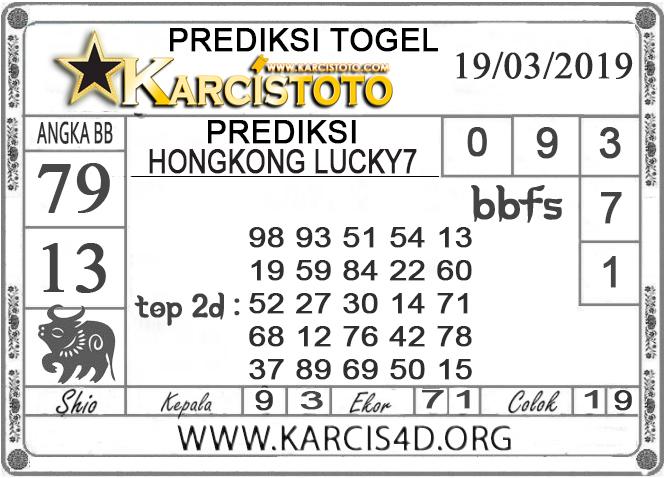 Prediksi Togel HONGKONG LUCKY 7 KARCISTOTO 19 MARET 2019