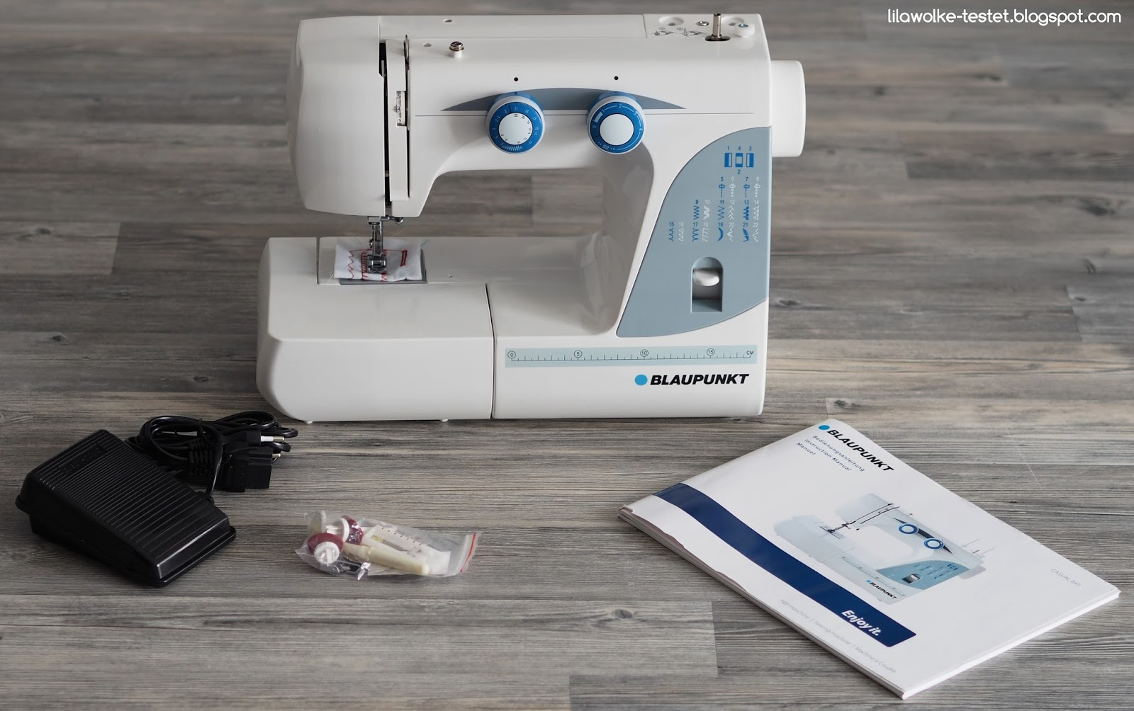 BLAUPUNKT Nähmaschine Casual 845 im Test  Lilawolke  Testet ~ Nähmaschine Unterfaden Aufspulen