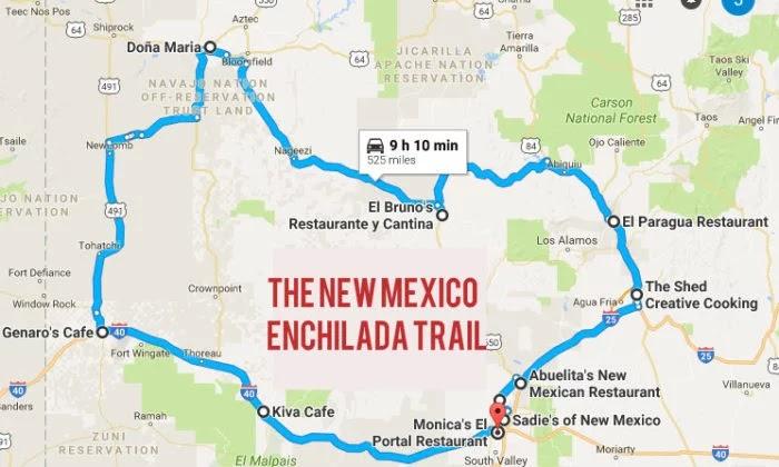 Ojo Caliente New Mexico Map.Armand S Rancho Del Cielo New Mexico Enchilada Trail