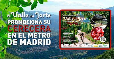 El Valle del Jerte se promociona en el Metro de Madrid