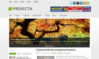 Proecta Blogger Template