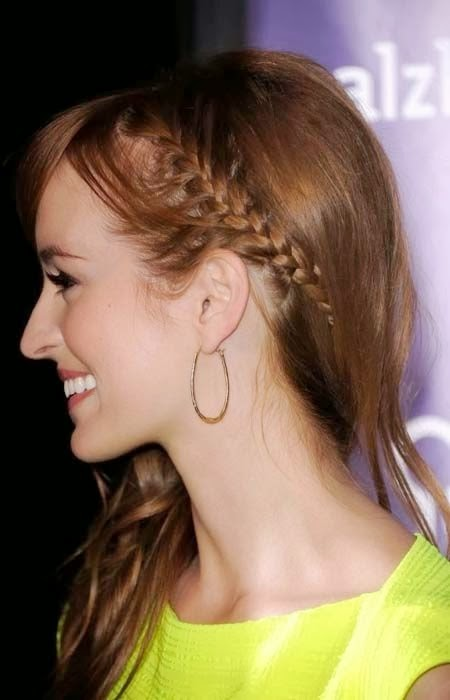 French Braided hairstyles 2015}