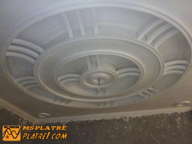 Nouveau faux plafond de salon en plâtre  Marocain