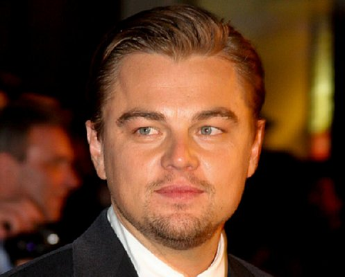 Head shot of Leonardo DiCaprio