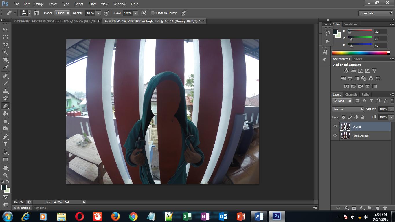 Membuat Poto Tembus Pandang dengan Photoshop  TUTORIAL SPJ