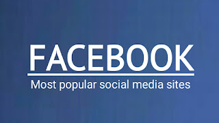 Most popular social media sites - Facebook.