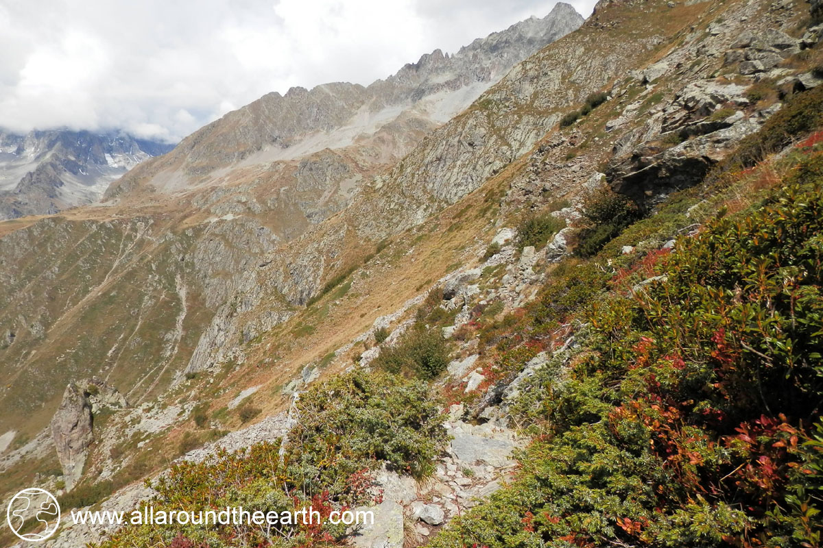 Hiking from Cabane du Pis hut to Refuge du Chabournéou hut in the Valgaudemar Valley of the Ecrins National Park, Alps of France