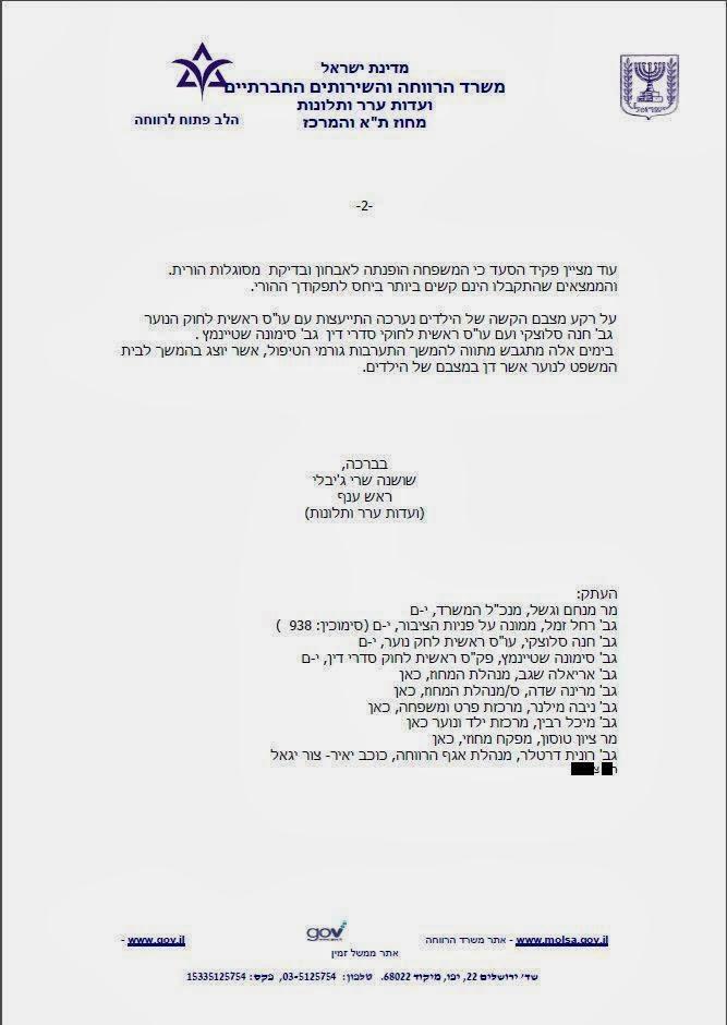 שר הרווחה מאיר כהן - דרכי רמיה ואיומים בטיפול בתלונות פשעי משרדו