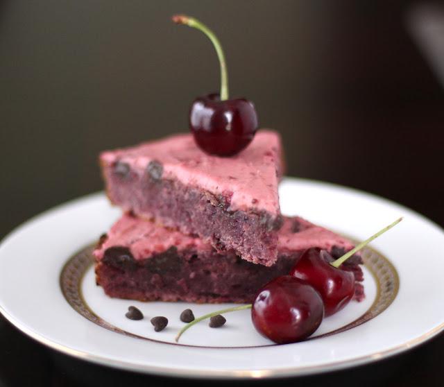 Healthy Cherry Chocolate Chunk Blondies Recipe Desserts