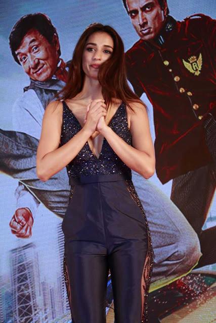 Disha Patani Hot Stills at Kung Fu Yoga Promotions