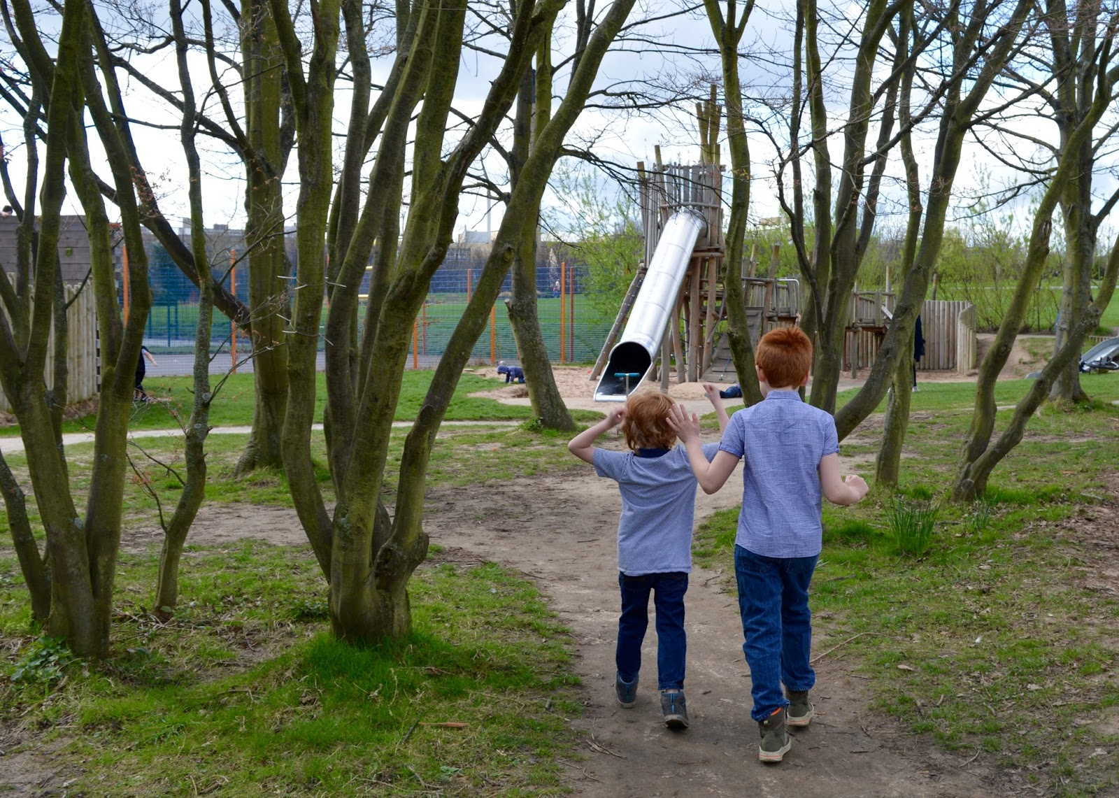 Exhibition Park Newcastle |  Adventure playground and tube slide for older kids
