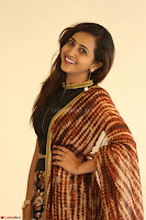 Lasya looks super cute in black choli Saree at Raja Meru Keka Press Meet ~  Exclusive 100.JPG