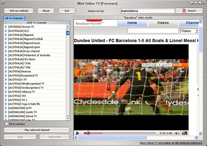 Watch TV on the Internet « Free Live Football