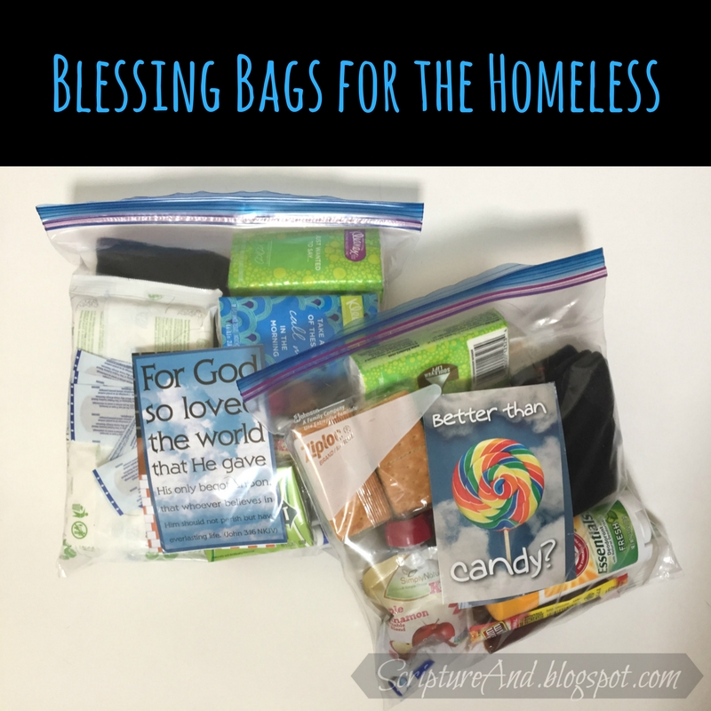 Scripture and     : Blessing Bags for the Homeless