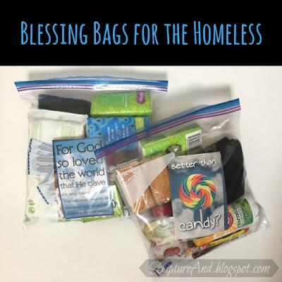 Blessing Bags for the Homeless | scriptureand.blogspot.com