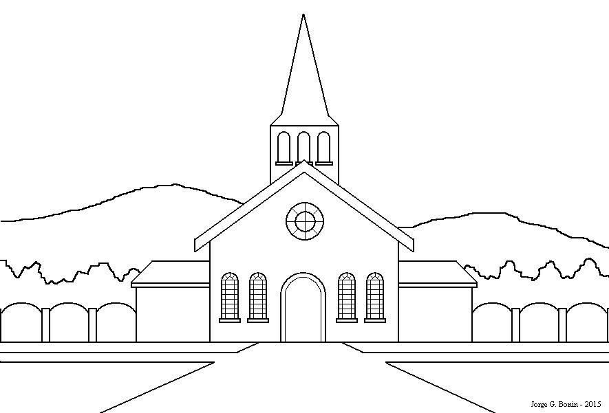 Arte No Paint Desenho Para Colorir Igreja