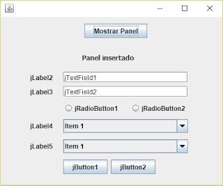 Cómo insertar un JPanel dentro de otro en Java