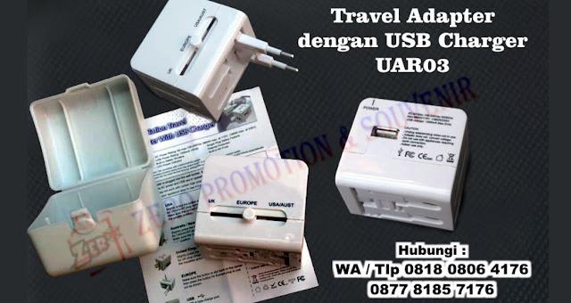 Universal Travel Adaptor Kotak with USB Charger UAR03, Universal Travel Adapter Promosi UAR03 Travel Adaptor UAR03, UNIVERSAL TRAVEL ADAPTER W/ USB MODULE, Konverter Travel murah, garansi, lengkap di Tangerang