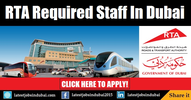 Roads & Transport Authority (RTA) Careers & Jobs in Dubai
