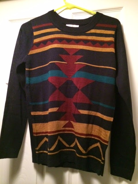 24109596 Again, completely my style. Fitted, love the southwestern print. Can tell  my pinterest profile was taken into consideration. More of a fall sweater  than a ...