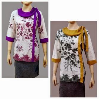 Model Baju Blus Batik Wanita Terbaru Dan Modern