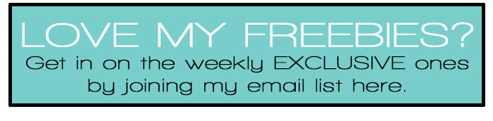 Freebies for Printables