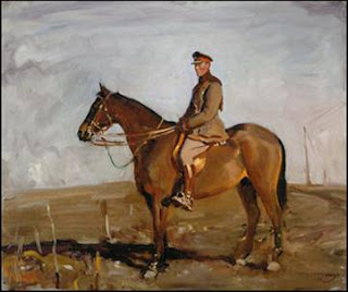 Jack Seely on his horse, Warrior
