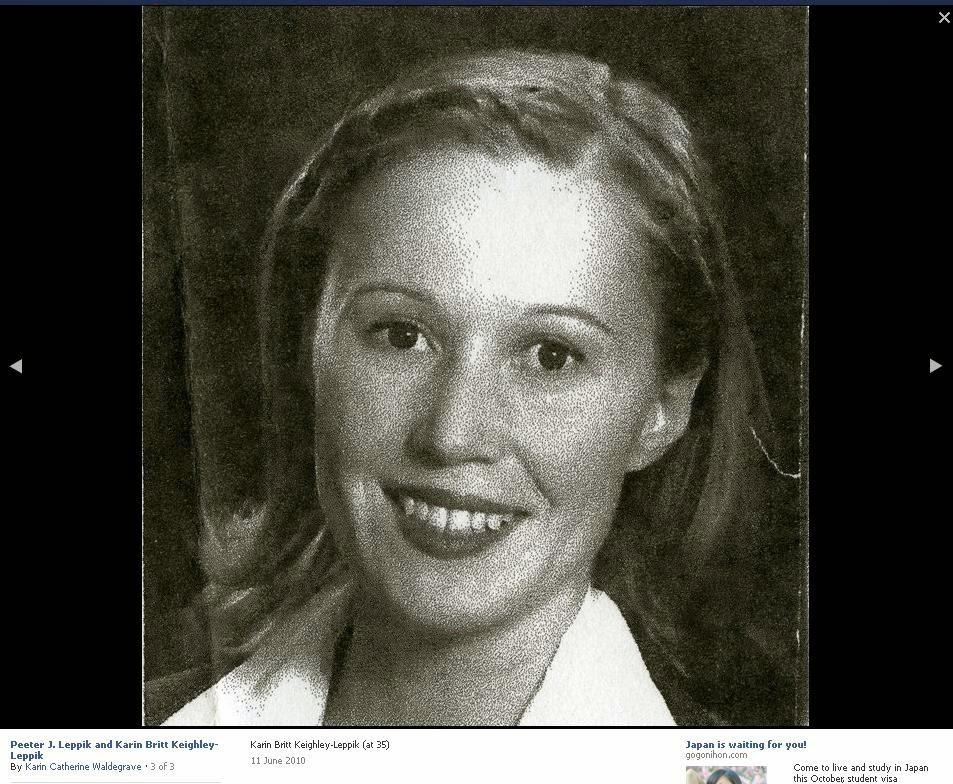 Karin Catherine Waldegrave, schizophrenic