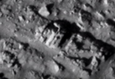 Huge carving of a King with a Crown on Mars surface.