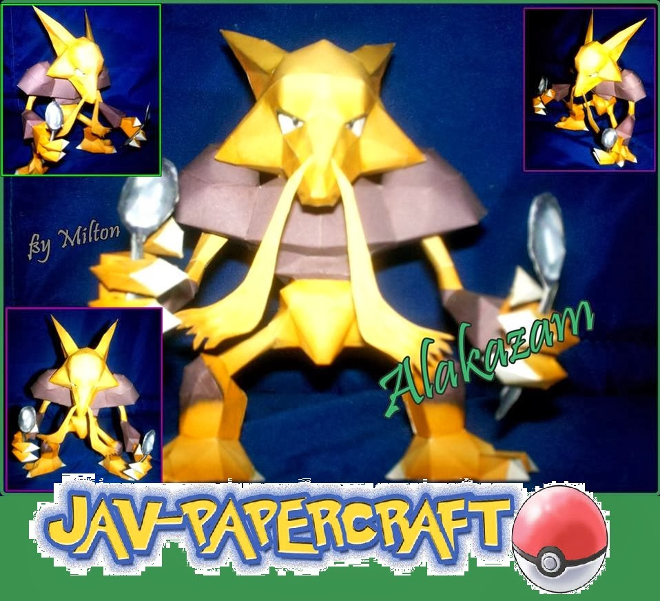 Pokemon Alakazam Paper Model