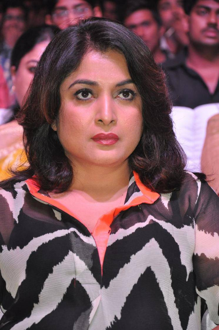 Ramya Krishna New Cute Stills In Black Dress
