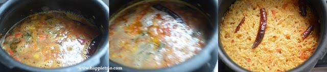 Step 4 - Arisi Parupu Sadham Recipe | Coimbatore Style Dal Rice | Kongunad Dal Rice