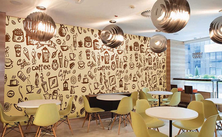 Dinding kafe Instagramable dan kekinian