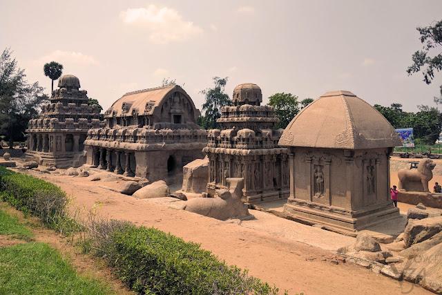 Pancha Pandava Ratha's/Chariots of Mahabalipuram