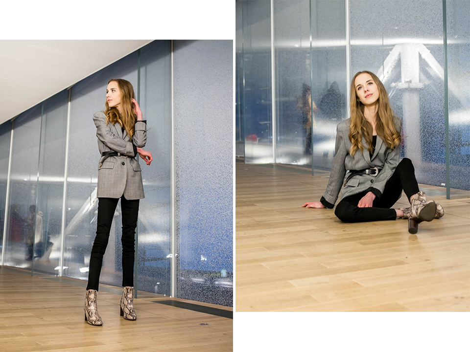 Fashion blogger outfit inspiration: blazer and belt - Muotibloggaaja, asuinspiraatio, bleiseri + vyö