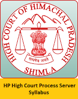 HP High Court Process Server Syllabus
