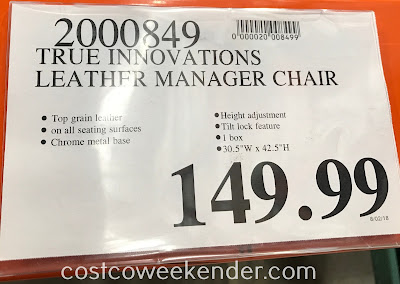 Deal for the True Innovations Leather Manager Chair at Costco