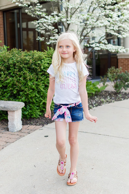little girl summer fasion outfit ideas daphnie guess kids