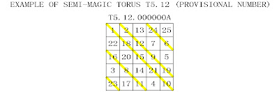 order 5 semi-magic torus type 12