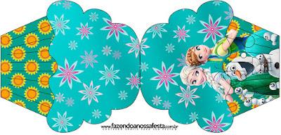 Tarjeta con forma de cupcake de Frozen Fiebre Congelada.