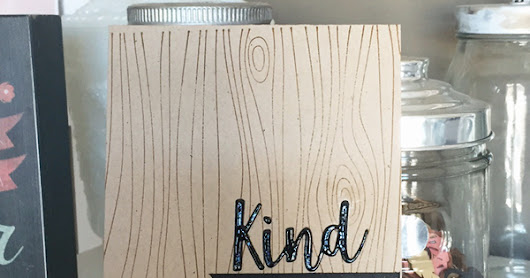 MFT- Kindness clean and simple card