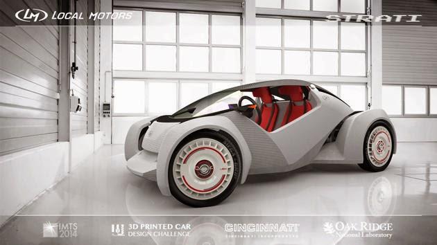 Mobil Yang Dibuat Dengan Mesin Cetak 3D