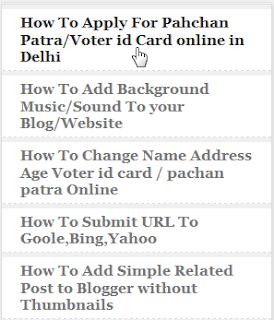 popular Post widget