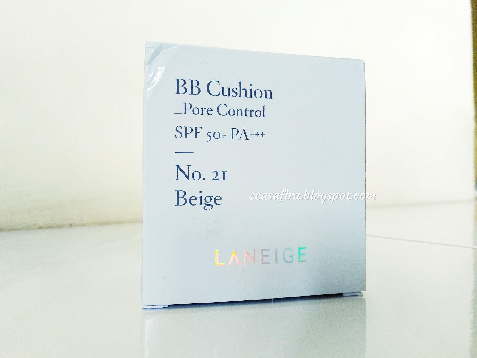 Laneige Pore Control Bb Cushion No 21 23 A Review Tulas Tulis