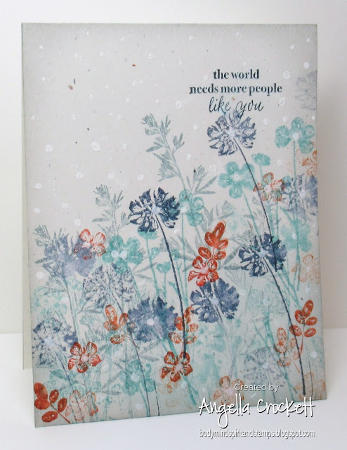 Stampin Up Pressed Flowers and Part of my Story, Card Designer Angie Crockett