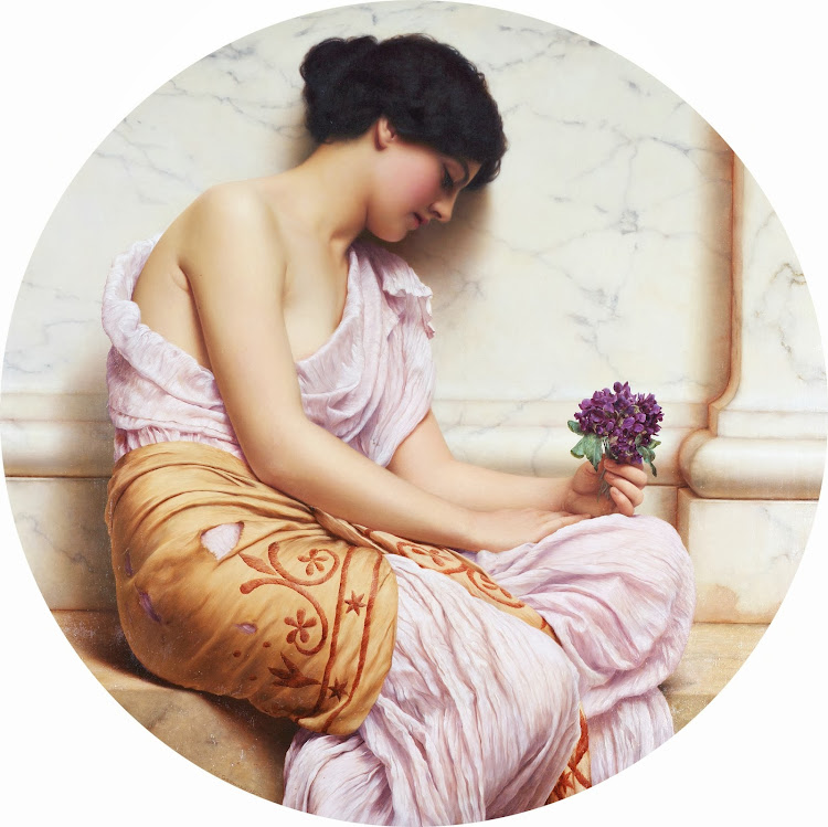 John William Godward - Violets, sweet violets (c.1906)