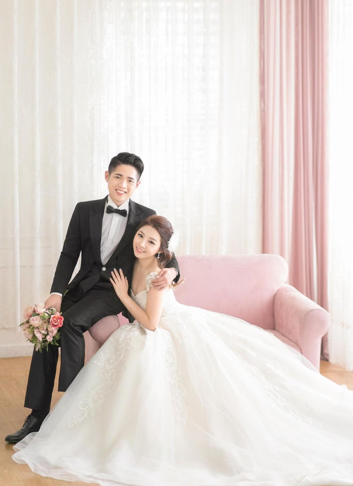 весьма колоритная корейские звезды свадьба фото нежно-розового цвета