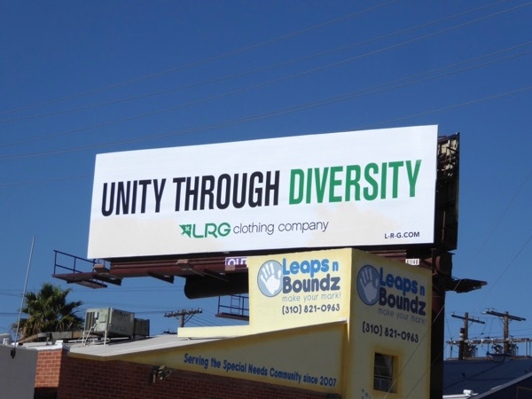 Unity through Diversity LRG Clothing billboard