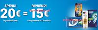Logo ''Spendi&Riprendi'' con P&G e Carrefour: Acquista P&G e ricevi buoni spesa da 15€